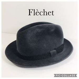 Flèchet genuine velour fedora black
